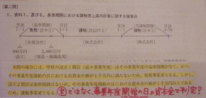 121税理士試験消費税法ミスノート